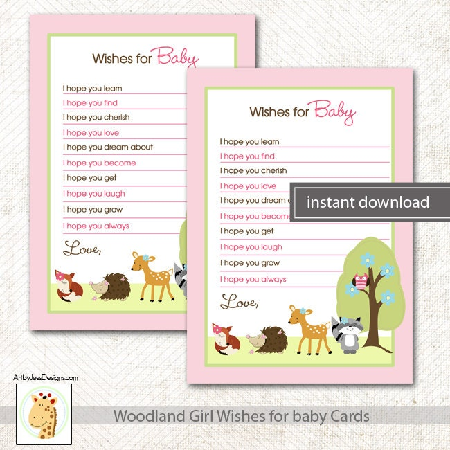 Nature Themed Baby Shower: Woodland Nature Theme Girl Baby Shower Wishes By