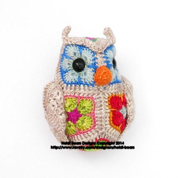 African Flower Crochet Owl Pattern Free Traitoro For