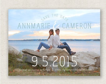 Elegant Photo Save the Date Wedding Cards