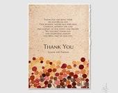 Thank You Card Design - DIY Printable Custom Wedding Thank you card