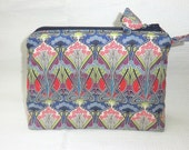 Liberty Tana Lawn Padded Make up Purse in 'Ianthe'
