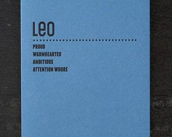 leo. letterpress card. #214