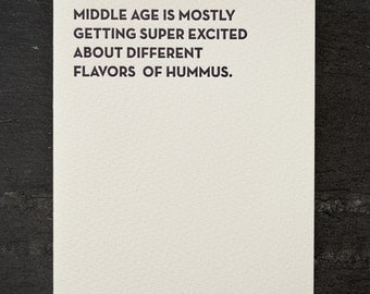 hummus. letterpress card. #904