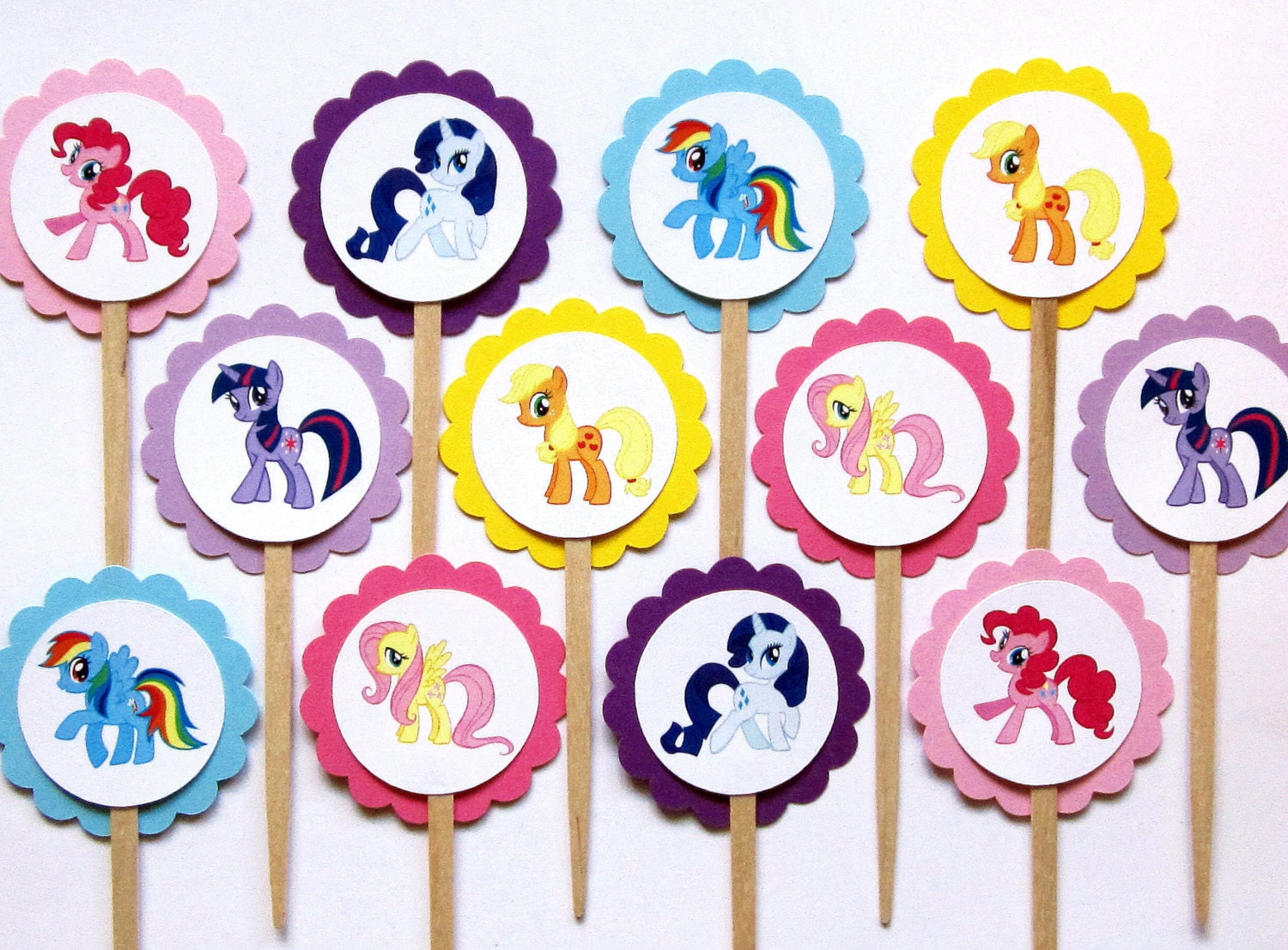 My Little Pony Cupcake Toppers . My Little by TheBlissfulBaker