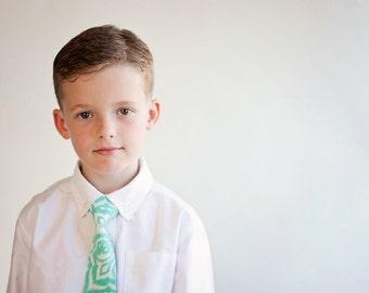 Necktie, Tie Necktie, Boys Tie, Tie, Baby Tie, Coral Tie, Mint Green Tie, Skinny Ties, Peach Tie, Ring Bearer, Wedding, Blush Tie
