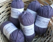 Beautiful Heathered Purple Worsted Alpaca Yarn