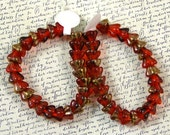 Red Flower 6mm Glass Beads 60% off, qty 50