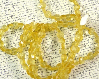 Golden Yellow Vintage German Glass Beads 60% off, qty 150