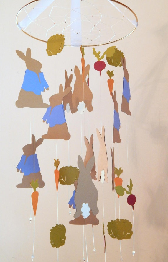 Peter Rabbit Nursery Mobile By Flutters On Etsy