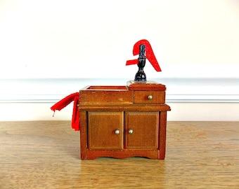 Vintage Dollhouse Furniture, Kitchen Sink,Wood Furniture, Dollhouse, Furniture, Miniature, Kitchen, Vintage Toy, Toy, Well Pump, Dry Sink
