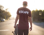 The REACH / ESCAPE Scoop Neck Parkour T-Shirt - Maroon