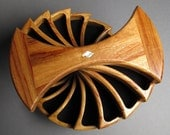 Handcrafted Jewelry Box, Canarywood, 'The Helical Box'