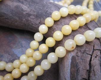 6mm Spun Honey Jasper Semi Precious Beads