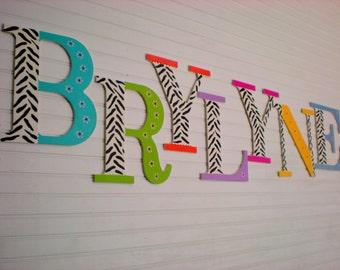 Girl Name Letters - Zebra Print - Nursery Wall Letters