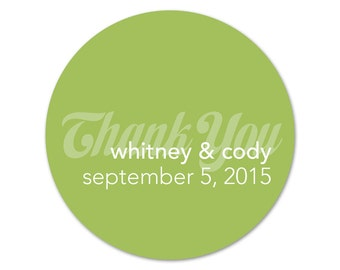 Personalized Stickers - Custom Wedding Favor Labels - Thank You Stickers - Custom Labels - Personalized Favor Stickers
