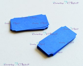 "200 Ticket Tag 1""x2"" -Paper Rectangle Labels -Cardstock Small Tags -Paper die cuts -Rectangle Paper Labels -Tickets tags"
