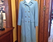 Vintage Wool Coat, Robin's Egg Blue from Talbots