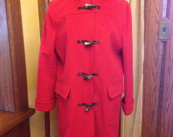 Darling Vintage Red Wool Blend Car Coat from Talbots