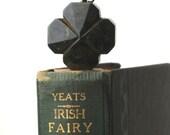 bakelite four leaf clover saint patrick's day pendant jewelry lucky choker style