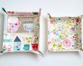 Tea In The Garden Fabric Travel / Storage Baskets