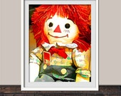 Vintage Raggedy Anne's Andy Doll Colorful Art Print | 70's Memorabilia | Vintage Style Wall Art