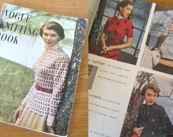 1940s Vogue knitting book 1949 No 34 Many wonderful patterns!
