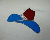 Texas Cowboy Hat Stained Glass Suncatcher
