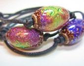Mood Bead Cotton Cord Bracelet, Stackable, Friendship bracelet, Color Changing, Boho Hippy Bohemian, yoga