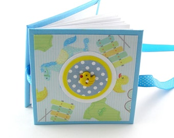 Play Time in the Nursery Mini Photo Book, 2x3 wallets - aqua, yellow, greeen
