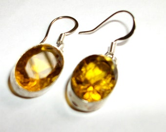 Topaz  Sterling Silver earrings- Choose your color   30% off Sale  Was 30, now 21