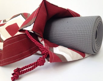 Retro Diamond Yoga Mat Bag