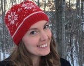 Let it Snowwww!  Red Wool Hat