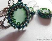 RESERVED: Mermaid Tears  -  Organic Genuine Amalfi clear Sea Glass pendant  - green