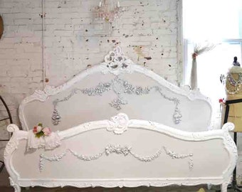 Painted Cottage Shabby French Romantic Bed Queen / King BD714