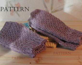 Honeycomb Brioche Fingerless Mittens and Mittens Knit in Round, Pattern, Dual Pattern
