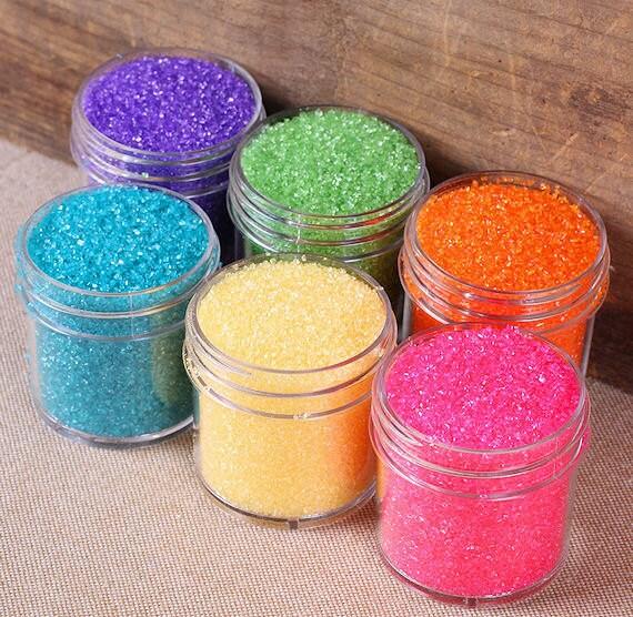 Pretty rainbow sanding sugars