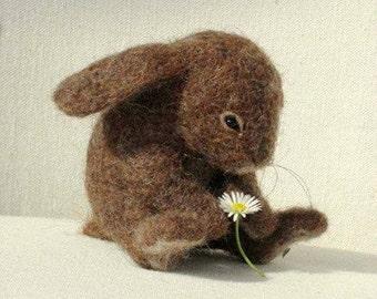 Ooak Needle Felted Baby Bunny