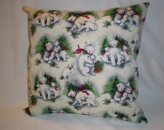 Christmas Bears with Babies Pillow Sham