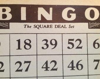 BINGO Cards The Square Deal Set. 1936