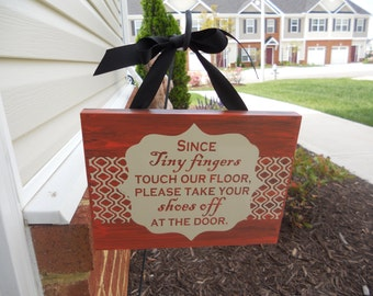 Cute Remove Shoes sign
