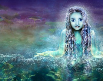 Message of the Naiad by Susan Schroder- Mythic Fantasy Art Print Faerie