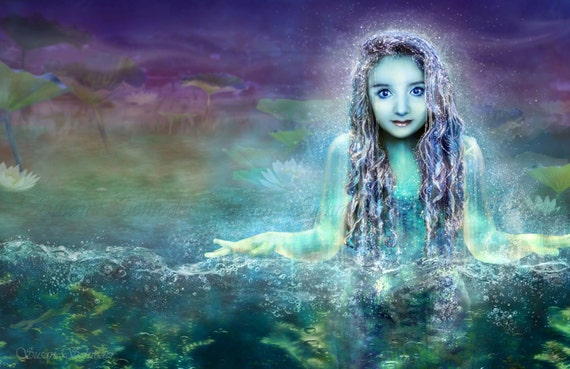 Message of the Naiad by Susan Schroder Mythic Fantasy Art
