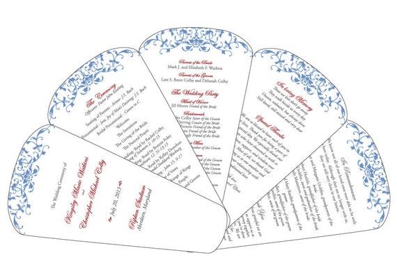 DIY Fan Wedding Program - Customizable PDF File