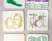 Block-print stamped coaster set - all proceeds donated!