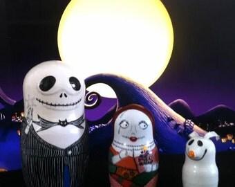 Mini Nightmare Before Christmas Matryoshka Dolls