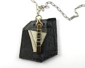 Necklace with Leather Pendant-TieTux
