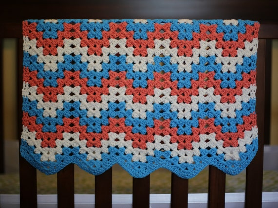 Chevron Car Seat Blanket Crochet Pattern