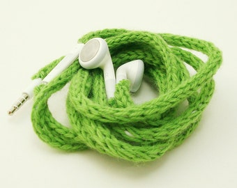 CLEARANCE SALE Tangle-Free Earbuds in Spring Green, Authentic Apple Earbuds