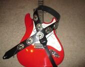 Heavy Leather Guitar Strap W/ Conchos