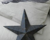 Antique metal Amish barn roof star....black primitive lovliness...